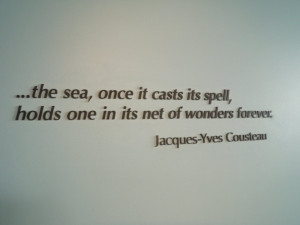 the walls of the mba are peppered with quotes about the sea this one ...