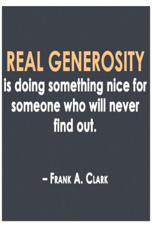 Real #generosity