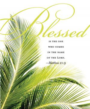 Christian Bulletin Palm Sunday Clip Art