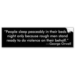 George Orwell Quote Bumper Sticker Car Bumper Sticker