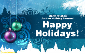 happy holidays wishes greetings