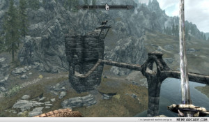 Fighting bandits in Skyrim, my bad-ass horse gets shot with an arrow ...