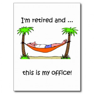 Funny retirement humour post card