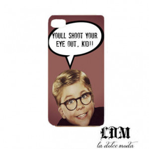 CHRISTMAS STORY funny iPhone quote case you'll shoot your eye out ...