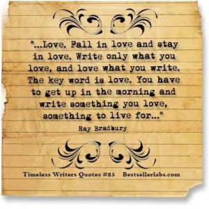 Bradbury on love and writing