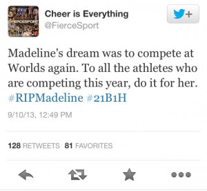 Rest in peace Madeline! It's so sad to hear that yet another ...
