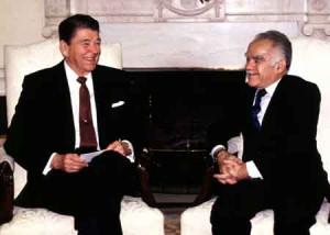Yitzhak Shamir & Ronald Reagan at the White House (November 20, 1987)
