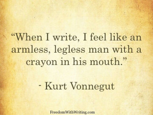 kurt vonnegut essay on writing This review aims at discussing kurt vonnegut's life in relation to his novels kurt vonnegut free essay example custom essay writing service.