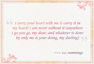 carry it in my heart) i am never without it (anywhere i go you go,my ...