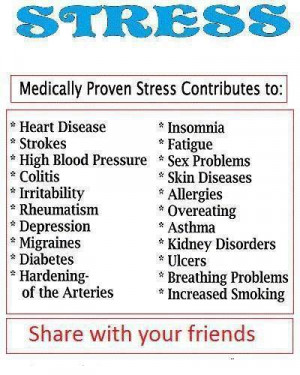 ... with worry and stress see some of the effects stress has on your body