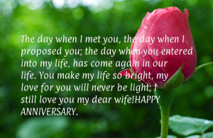 Anniversary sayings for wife