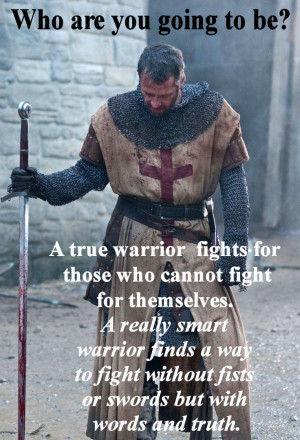 Knight Warrior Fighting for Social Justice Inspirational Lunch Note ...