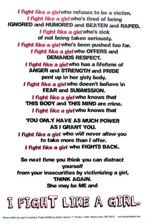 ... quotes   Escape Abuse! » Blog Archive » I Fight Like a Girl