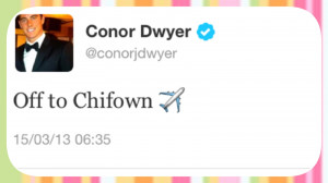 We admire Conor for all his multiple talentsand these days we found ...