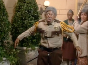 ... the last time martin played a cop otis on his hit tv show martin