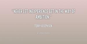 Quote Terry Josephson Never