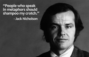 """speak in metaphors"" with ""post indirect, passive aggressive ..."