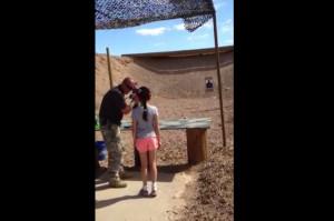 Girls Shooting Guns Quotes Nevada gun range shooting
