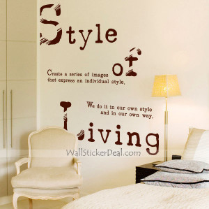 Quote Wall Sticker Material