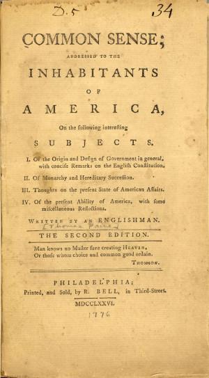 Common Sense , 1776.