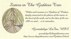Sisters in the Goddess Tree, Coventry of the Divine Feminine is now ...