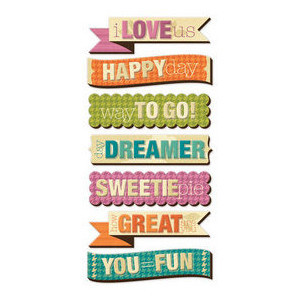 Phrases & Sayings > Vintage Blue Layered Chipboard Words: A Cherry On ...