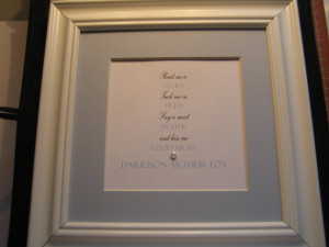 Personalized Framed Quote for Baby Boy - 9x9 -