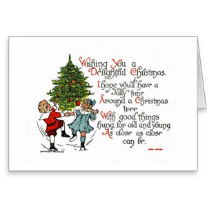 Happy Children Christmas Tree Greeting Card by curiosityshop