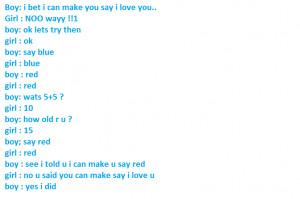 Love Conversation True Fact Between Boy and Girl