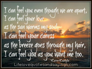 Can Feel You.. | Love Quotes And SayingsLove Quotes And Sayings