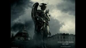Angels and Demons Half Angel Half Demon Statue Wallpaper