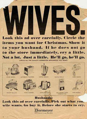 Domestic: Hoover markets their vacuum cleaner as a woman's delight and ...