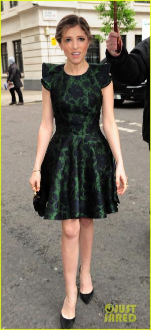Anna Kendrick Green Dress