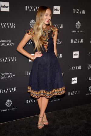 Monique Lhuillier - Backstage and Front Row - Mercedes-Benz Fashion ...
