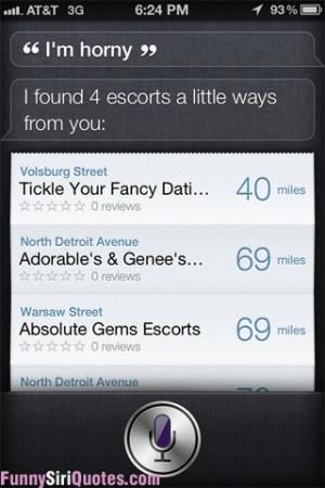 Horny Funny Siri Quotes