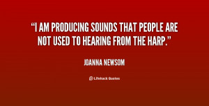 ... producing sounds that people are not used to hearing from the harp