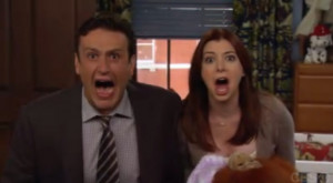 How I Met Your Mother Marshall and Lily screaming