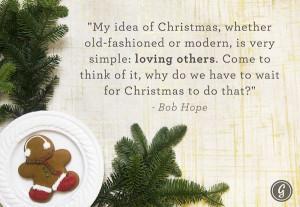 Bob Hope on Christmas...