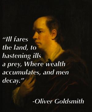 Inequality Quotes Oliver Goldsmith
