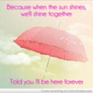 Rihanna Umbrella Love Quote