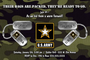 ... , Militarypatriot Parties, Army Parties, Army Invitations, Send Off