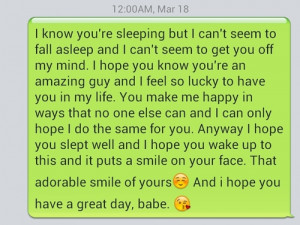 Cute text messages to send to your boyfriend tumblr goodnight text