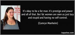 Fat Women Quotes