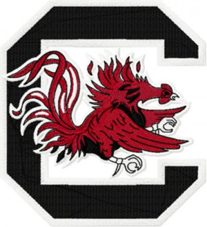 South Carolina Gamecocks Football Logo Machine Embroidery Design In ...