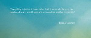 Iyanla Vanzant Quote - Quote About Forgiveness - Oprah.com