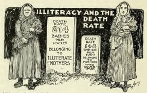 Illiteracy and the death rate