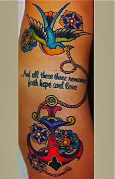 My Sparrow and Anchor Tattoo ♥ More
