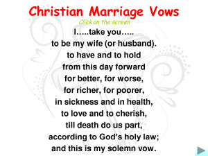 Christian Marriage Vows by kvw36946