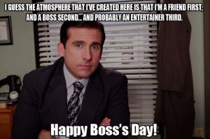Happy Boss's Day / Michael Scott / The Office / #TheOffice / Steve ...