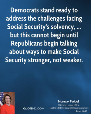 Democrats stand ready to address the challenges facing Social Security ...